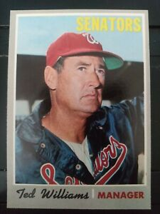 1970 Topps #211 Ted Williams Washington Senators HOF- EX-MT