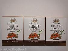 Turmeric Capsules x3 Curcumin Curcuma Longa Linn  95% Curcuminoid   Antioxidant