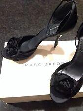 Marc Jacobs Black Satin Heels, Size 40