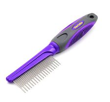 Comb with Long and Short Teeth By Hertzko – GROOMS THE TOP COAT AND UNDERCOAT...