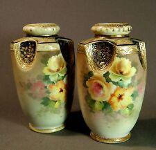 Nice pair of hand painted & gilded Noritake vases.