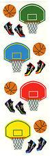 Mrs. Grossman's Stickers - Basketball - Goal,  Sneakers - 4 Strips