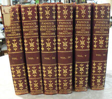 Famous American Statesmen and Orators  Past And Present A K McClure 6 Vol 1902