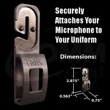 Tactical Mic Klip (TMK) Lapel Microphone Holder Clip for Police EMT Fire TSA