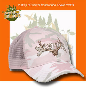 NEW Womens Ladies Pink Camo Scent Lok Logo'd Cap
