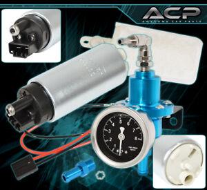 For Jeep Adjustable Fuel Pressure Regulator 0-140 Psi Blue Suv+255 Eletric Pump