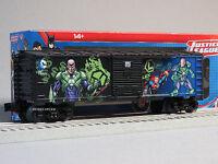 LIONEL LEX LUTHOR BOX CAR 6-82953 o gauge train dc comics supervillain 6-82957