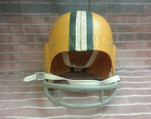 Vintage Rawlings Youth Football Helmet Medium G-100. GOLD AND YELLOW.