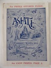 1897 THE BRAINERD AND ARMSTRONG CO - ASIATIC EMBROIDERY & KNITTING SILKS CATALOG