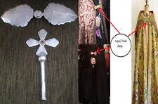 1899 ARMENIAN Church SILVER Altar CROSS & Priest cloak's CLASP- Ottoman Turkey