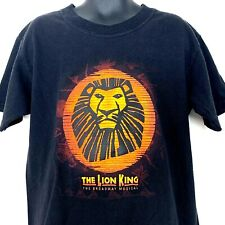 Disney Presents The Lion King Broadway Musical Youth T Shirt Black Vtg Size 7/8