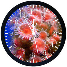 Red Coral Under the Sea Black Frame Wall Clock Nice For Decor or Gifts E348