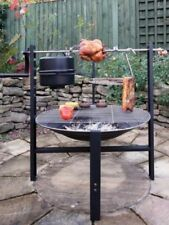 Gardeco All In One Prairie Camp Grill + Rotisserie Burning Fire Pit
