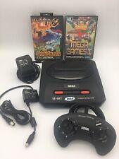 SEGA Mega Drive II + Original Controller + Kabel + 4 Spiele