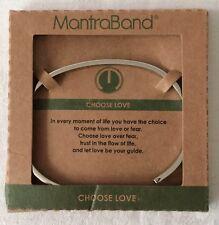 Mantraband Mantra Band Choose Love Silver Tone Bracelet NEW