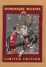DOMINIQUE WILKINS 1992 FLEER  LIMITED EDITION AUTOGRAPH CARD #7 OF 12