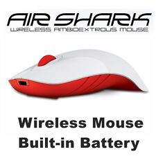 Wireless Mouse MorroLogic PC USB Quality Mobile Built-in Battery Mice White-Red