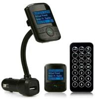 Car Kit MP3 Bluetooth Player FM Transmitter Modulator Fernbedienung USB Hei B8X7