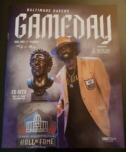 BALTIMORE RAVENS VS PATRIOTS 2019 NFL GAME PROGRAM, ED REED H.O.F.