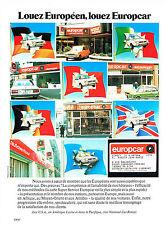PUBLICITE ADVERTISING 074  1977  EUROPCAR   location  voitures 2