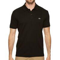 Lacoste Men's Short Sleeve Pima Jersey Polo Shirt Regular Fit Black XL