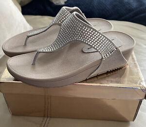 Ladies Womens Slip on Wedges Diamante Mules Sparkly Platform Sandals