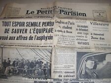 "Journal ""LE PETIT PARISIEN"",du 4 juin 1939,Menace de guerre;Tension,(j157"