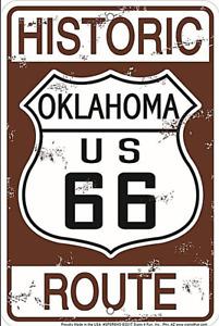 Historisch Route 66 Oklahoma Geprägt Aluminium Schild 300mm x 200mm(Sf)