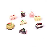 8PCS 1/12 Cute Dollhouse Miniature Kitchen Food Cakes Kids Set Doll House MR