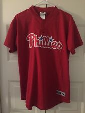 Philadelphia Phillies Batting Practice Jersey Vintage Youth Size XL Majestic