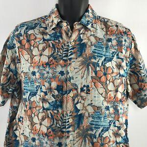 Jimmy Buffet Margaritaville Size M Hawaiian Silk Shirt Camp Tropical