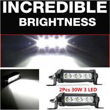 2Pcs 30W 3 LED Spot Beam Work Light Bar Car Truck Offroad Boat Driving Fog Lamp