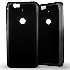 Housse Coque Etui Huawei Google Nexus 6P Silicone Gel Protection arrière- Noir