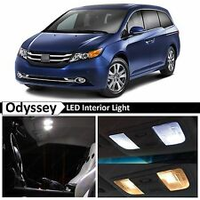 Honda Odyssey White Interior + License Plate LED Lights Package Kit + TOOL