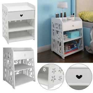 Modern Bedside Table Sofa Side Cabinet Kids Child Bedroom Nightstand with Drawer