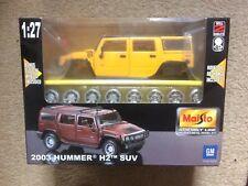 Maisto 1:27 GM Hummer 2003 H2 SUV Metal Alloy Diecast Model Car Self Assemble