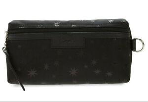 Longchamp Le Pliage Etoiles Stars Cosmetic Case bag Nylon pouch ~NIP~ Black