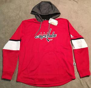 Adidas Mens XLarge Hoodie Pullover Sweatshirt 118CA 517 Washington Capitals $100