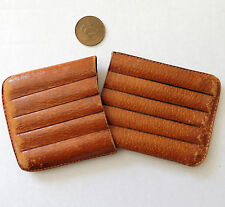 Vintage pigskin cigar case 5 finger wallet pouch slip style holder real leather