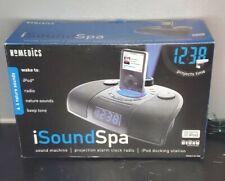 Homedics ISOUND SPA SS7000 iPod CD ATOMIC CLOCK Radio Projector DOCKING STATION