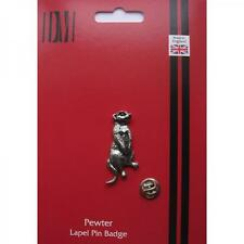 MEERKAT English Pewter Lapel Pin Badge Suricate Mongoose Birthday Present
