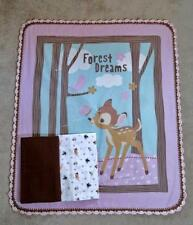 NURSERY CRIB QUILT/SHEET SET- DISNEY'S BAMBI & FRIENDS - FOREST DREAMS
