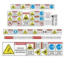 TELEHANDLER SAFETY DECALS STICKERS TELESCOPIC FORKLIFT CAT JCB GEHL MANITOU