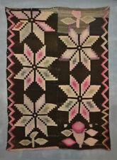 GREAT RARE 19th c. VALLERO STAR BLANKET Unique Aymara Indian Textile TM12964