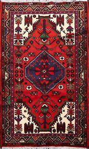 Tribal Traditional Hamedan Area Rug Hand-knotted Geometric Oriental Carpet 3'x5'