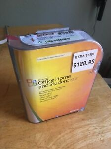 Microsoft Office Home and Student 2007 Original Retail Box with Product Key!