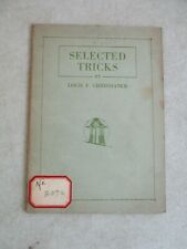 "Vintage 1923 ""Selected Tricks"" Magic Trick Booklet By Louis F Christianer"
