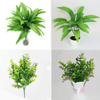 Artificial Plant Fake Flower Leaf Foliage Bush Indoor Home Office Garden Decor