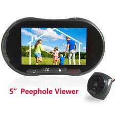"5"" LCD GSM SMS Alarm Video Doorbell Digital 140°Peephole Camera Door Viewer IR"