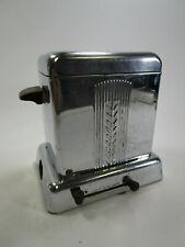 Vintage chrome Heatmaster 3076307 electric Toaster art deco wood handles no cord